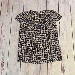 Merona black white shirt SZ/Small shortsleeved